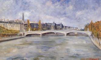 El museo Orsay I, 1995, oil on canvas 8.9 x 13.9 in