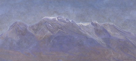 La Volcana, 2003, oil on canvas 37 x 80.3 in
