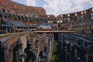 Coliseo, 2008, oil on canvas, 40.2 x 59.8 in