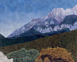 La Sierra Madre, 2007, oil on canvas, 59.1 x 74.8 in
