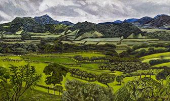 Paisaje de los Tuxtlas,Veracruz, 2011, oil on canvas 23.2 X 55.1 in